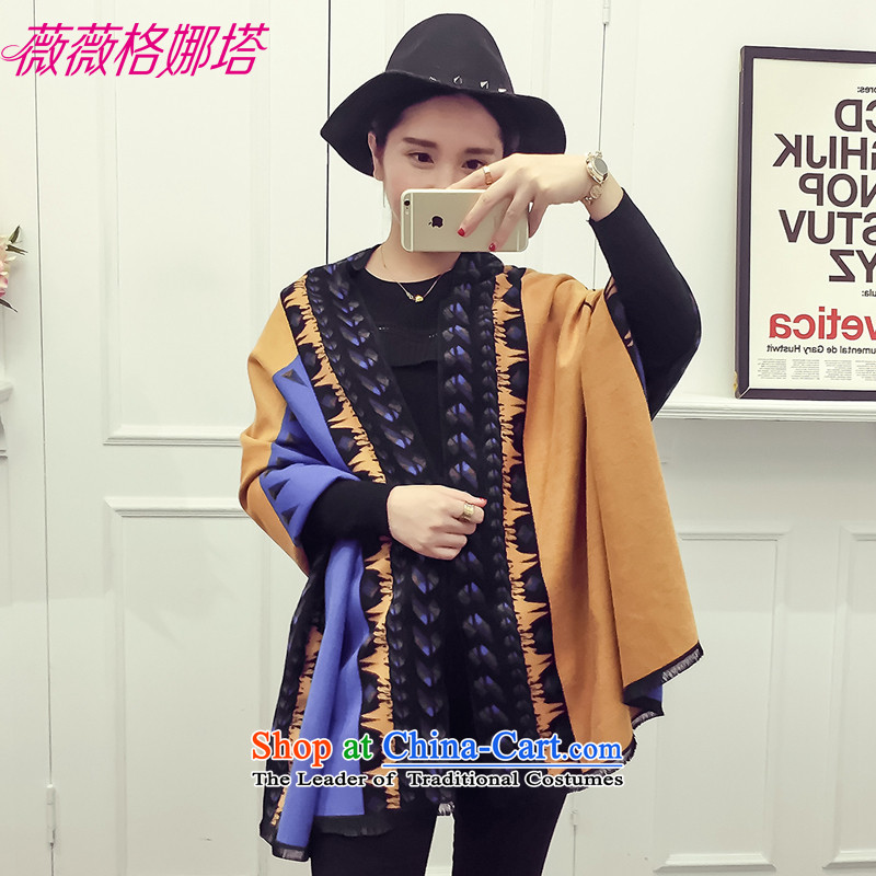 Weiwei Grid Natasha autumn and winter the new Europe and the President of the scarf stylish stitching warm emulation cashmere shawls AA1557 using double-sided picture color  190*70cm