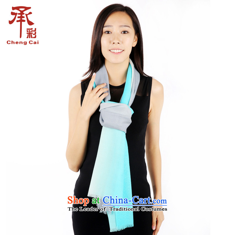 The color of the scarf, autumn and winter wool gradient thick Fancy Scarf4313soot gradient