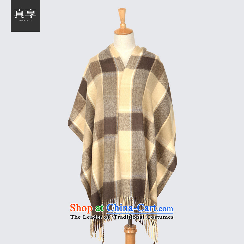 Enjoy the stylish Ms. thantrue really Knitting scarves England Plaid widen extension shawl and color W024