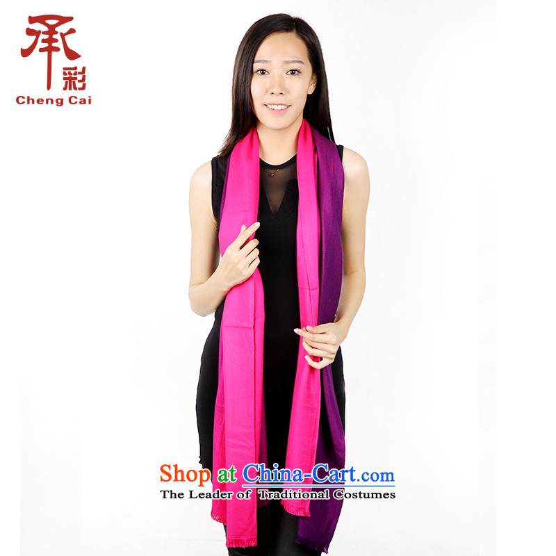 The color of the scarf, thick autumn and winter gradient Fancy Scarf dual-use the cloud - the red gradient Chunhui