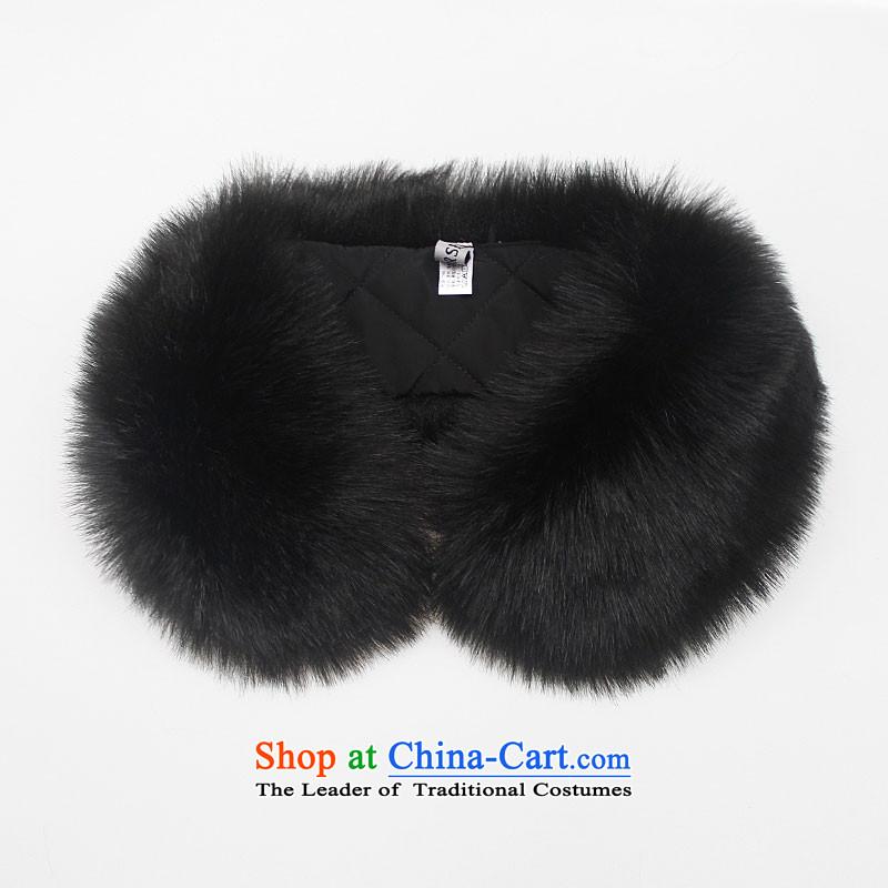 Gross up children emulation fur leave for adoption leave gross Maomao collars rounded black