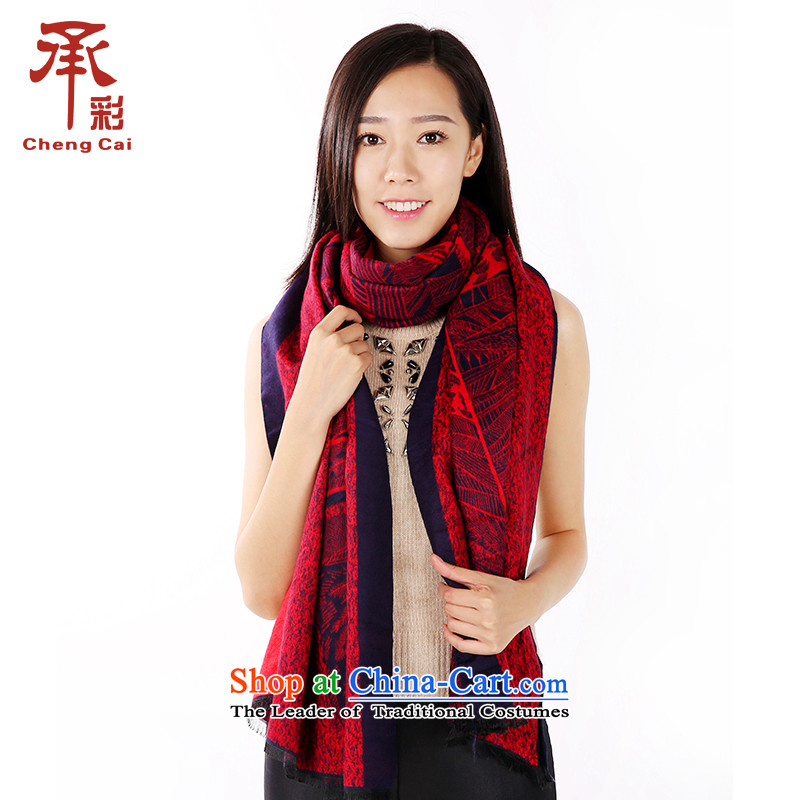 The Multimedia thick ethnic autumn and winter scarves scarf female stamp shawl4313Afternoon Tea - Red