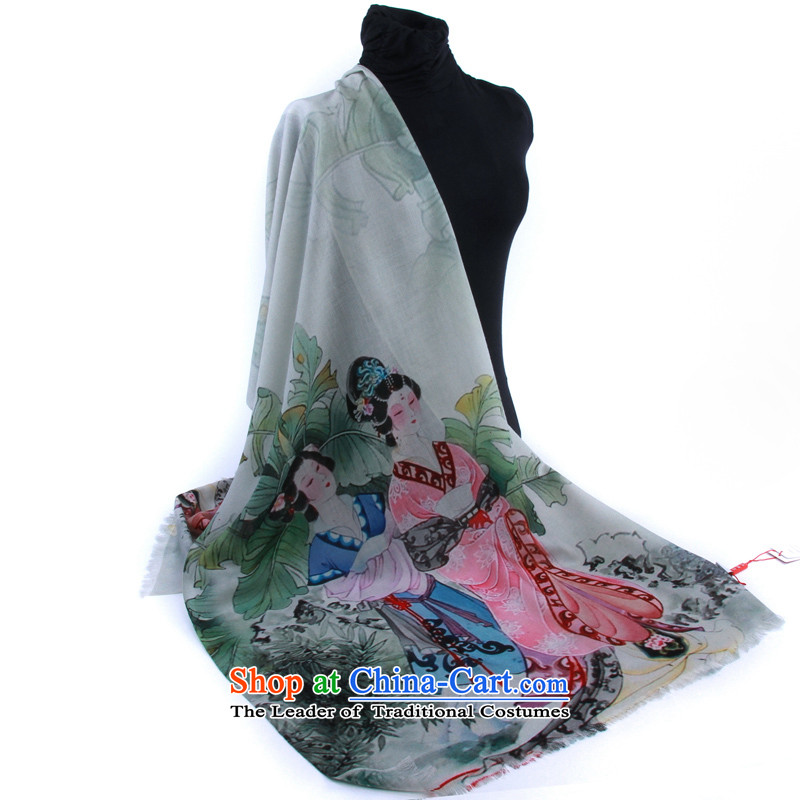 Hengyuan Cheung Australia wool digital inkjet, scarf gift scarf (gift boxed) the green