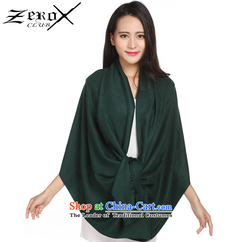 Zeroxclub autumn and winter solid color two-sided brushed Ms. warm Fancy Scarf4313 PJ-804 green
