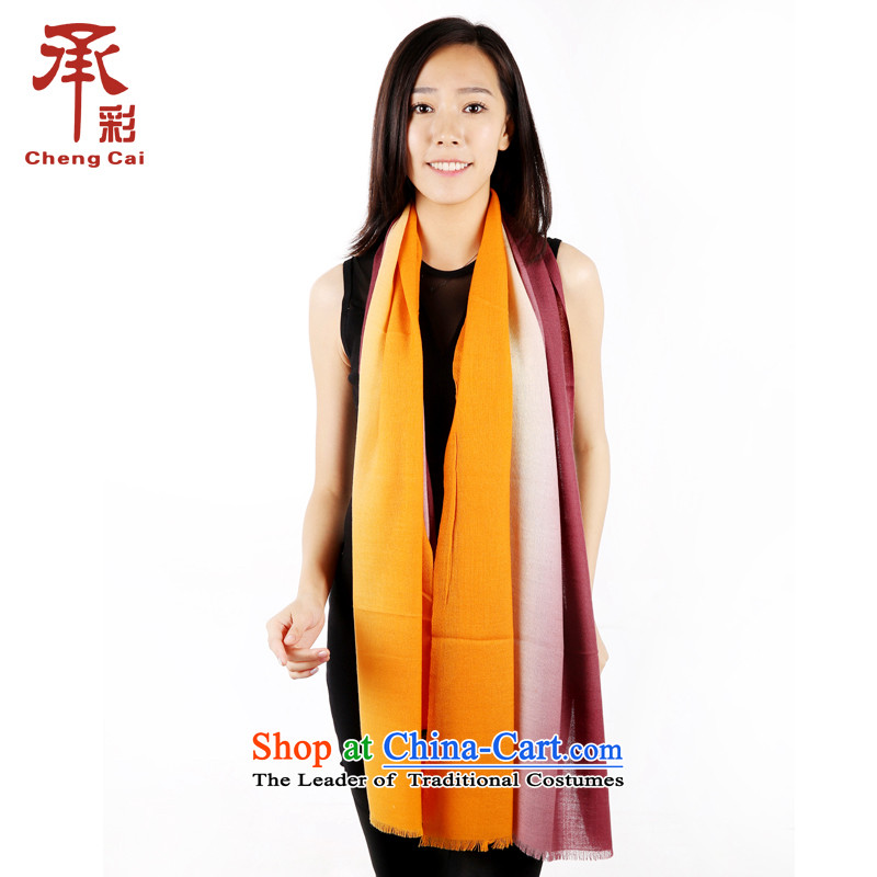 The color of the scarf, autumn and winter wool gradient thick Fancy Scarf dual-use the cloud - Retro purple gradient Chunhui