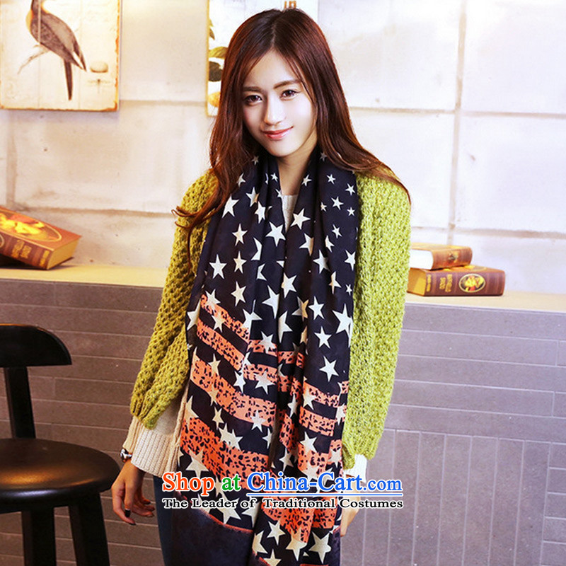 The new Korean winter TAOYEE edition super star stylish twill female large scarf Picture Color