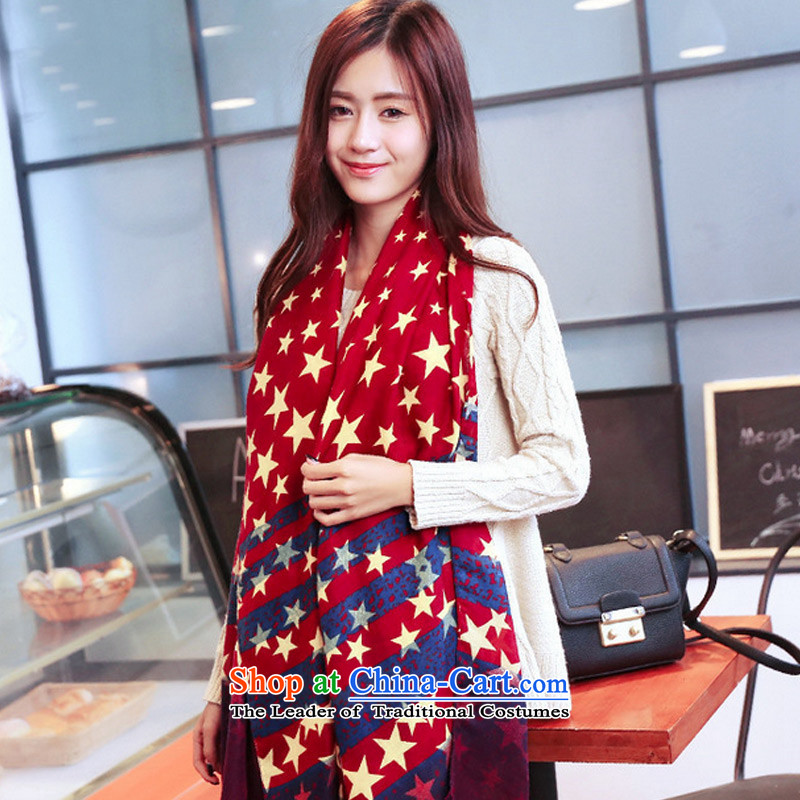 The new Korean winter TAOYEE edition super star stylish twill Korean female large scarf Picture Color