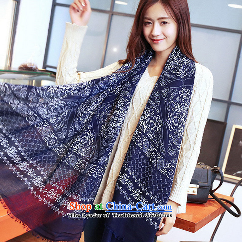 Winter new retro TAOYEE porcelain twill Korean female large scarf Picture Color