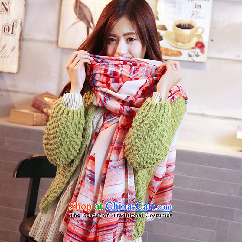 2015 Autumn and winter TAOYEE new 2-color bar twill Korean female large scarf Picture Color