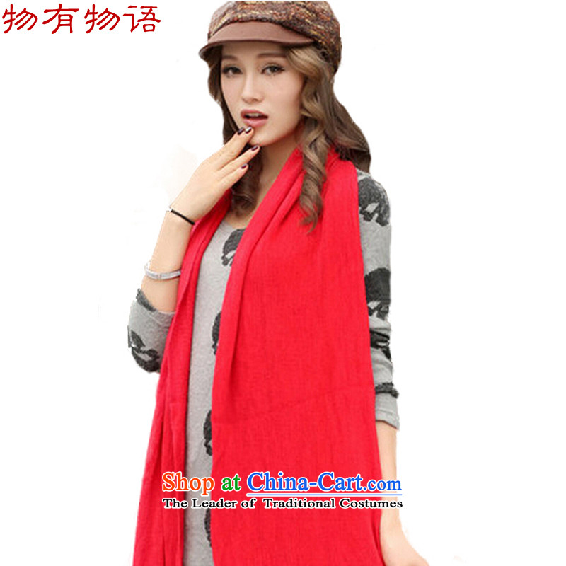 With the end of the scarf female Korean Chinese version of autumn and winter Knitting scarves knitted Ms. long large shawl two men with a thick red 30*220 students