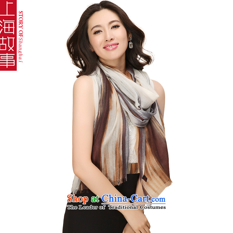 Shanghai Story pure Cashmere scarf, autumn and winter shawl a Cloud Shu Grizzly