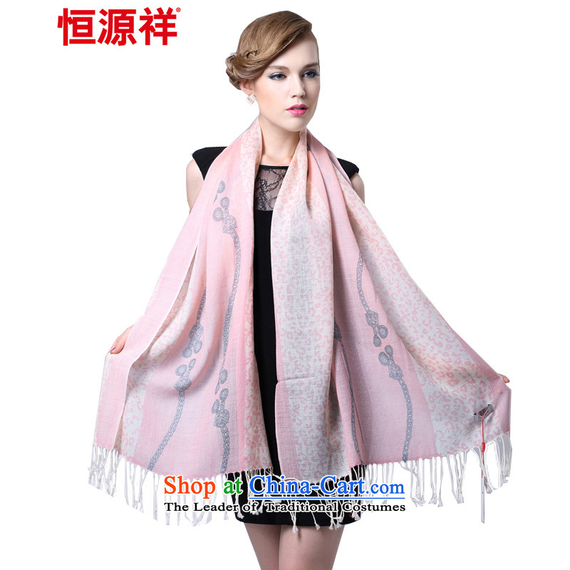 Hengyuan Cheung worsted fine wool stamp long scarf lingeringly Pink