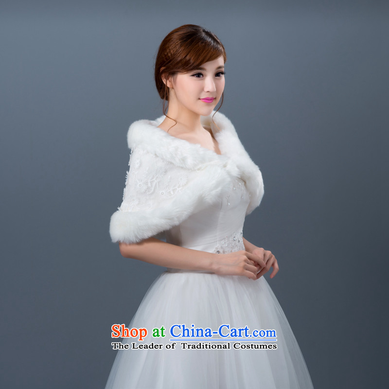 2015 new wedding shawl out on gross warm thick qipao gown marriage shawl Winter