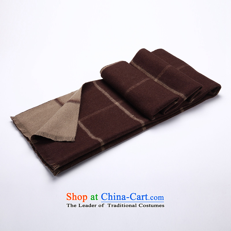 Hang Cheung Pure Wool large source shawl 2015 autumn and winter and the new two-sided squares shawl scarf thick dark and grid.