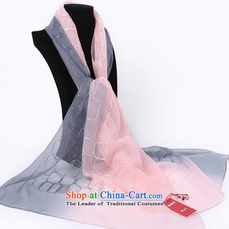 Hengyuan herbs extract Prague Ms. Cheung silk scarves herbs extract silk scarf _Boxset_ toner Gray