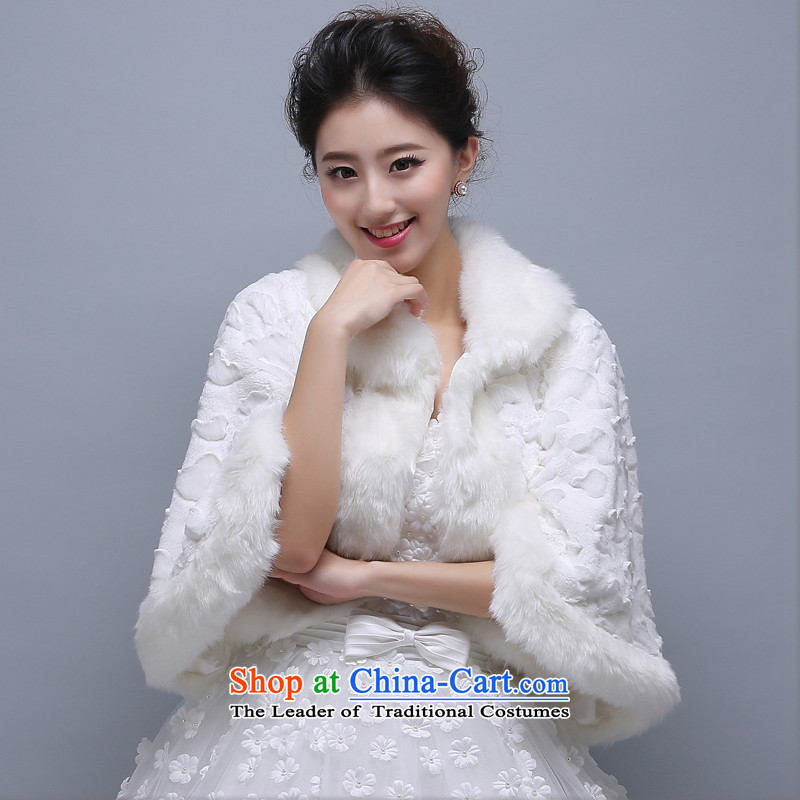 2015 WINTER wedding dress shawl marriage shawl thick hair shawl Korean warm small jacket shawl