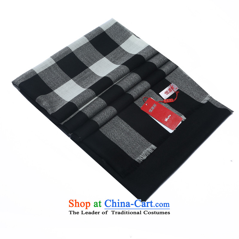 Hang Yuen Cheung-wool o wool high yarn, extended to increase long scarf gift boxed black Bague