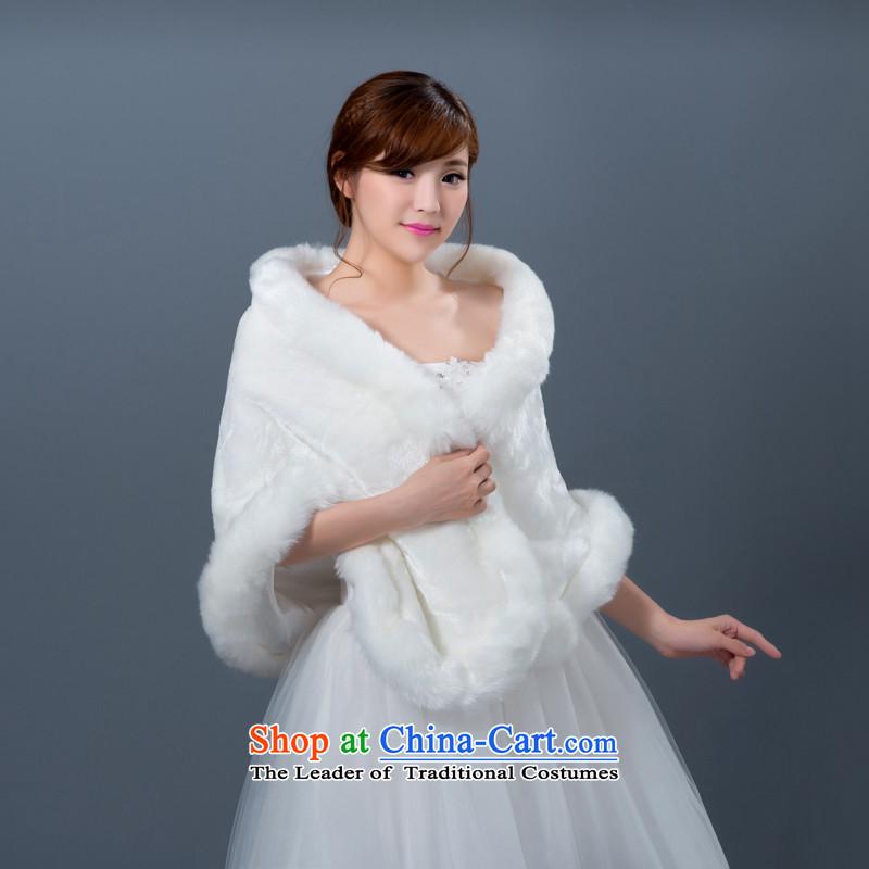2015 Autumn and winter new bride white hair shawl wedding dresses long shawl marriage bridesmaid lace Jacket