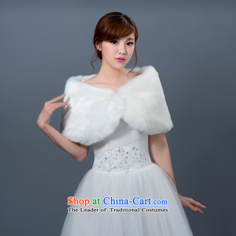 2015 Autumn and winter new bride white hair shawl wedding dresses long shawl marriage bridesmaid lace Jacket