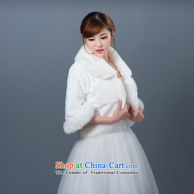 2015 new marriages autumn and winter wedding shawl thick long-sleeved large warm ma folder gross shawl Jacket