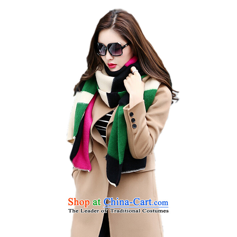 Large2015 shawl NPPAR new scarf female autumn and winter thick-Western Wind spelling out the color used in the fancy scarf two red spell green