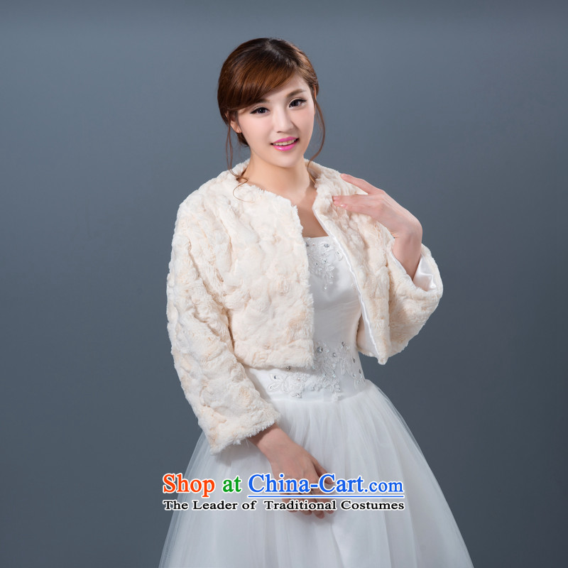 New autumn and winter wedding shawl marriages bridesmaid dress jacket thickened shawls gross champagne color, Hei Kaki shopping on the Internet has been pressed.