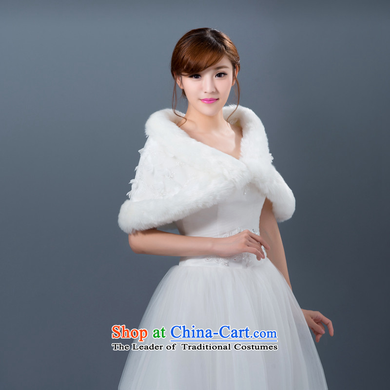 New autumn and winter wedding shawl marriages bridesmaid dress jacket shawl thick white hair, Hei Kaki shopping on the Internet has been pressed.