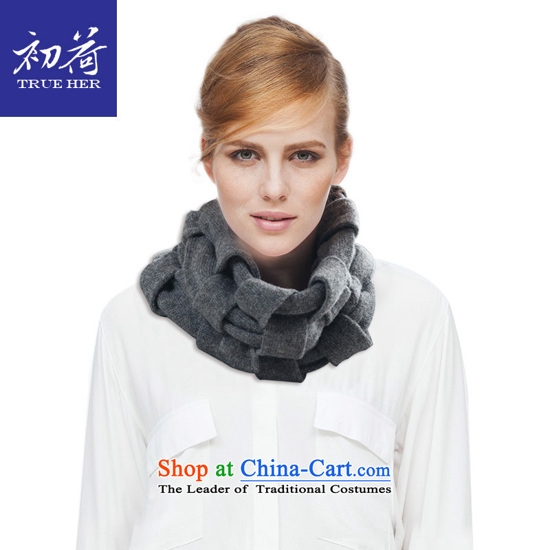 I should be grateful if you would arrange early Ms. wool chokeholds large wire braid of autumn and winter scarf western contemporary warm Wai Shing knitting series addition girlfriend gift charcoal gray
