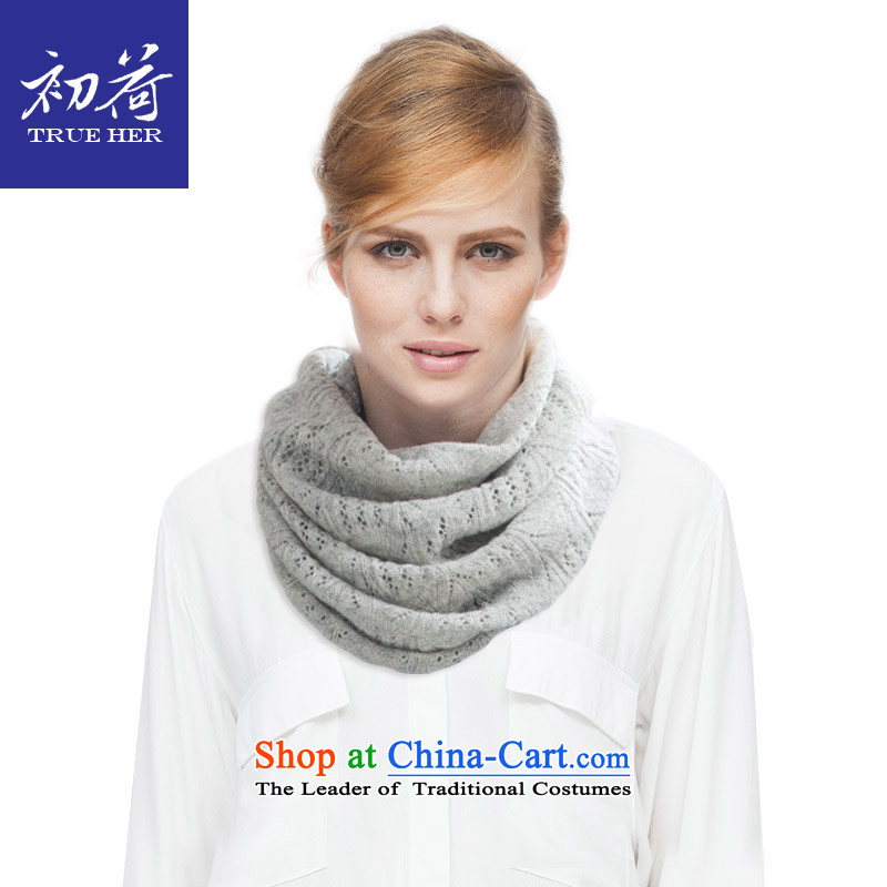 I should be grateful if you would arrange early Ms. wool chokeholds engraving Knitting scarves autumn and winter western contemporary warm Wai Shing knitting series addition girlfriend gift Light Gray