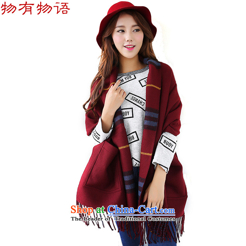 With the end of the scarf girl won the Chinese version of the new grid cashmere flow thick su duplex pockets of the scarf female warm with two shawls bourdeaux are code