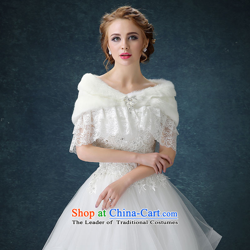 Seal the new president jiang wedding dress shawl winter marriages shawl bridesmaid gross shawl thick Warm White White