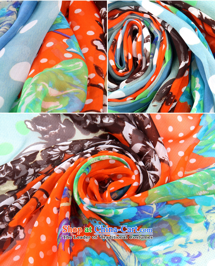 Shanghai Story stylish dot silk scarfs widen long sunscreen silk scarf beach towel herbs extract stamp shawl 158021 Blue orange picture, prices, brand platters! The elections are supplied in the national character of distribution, so action, buy now enjoy more preferential! As soon as possible.