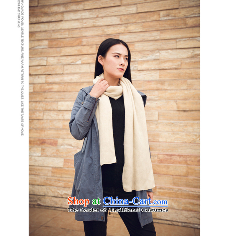 The end of the scarf of autumn and winter female WEIKAFU new Korean president scarf pure color soft warm and stylish modern couples a ship within 72 flat long beige 03