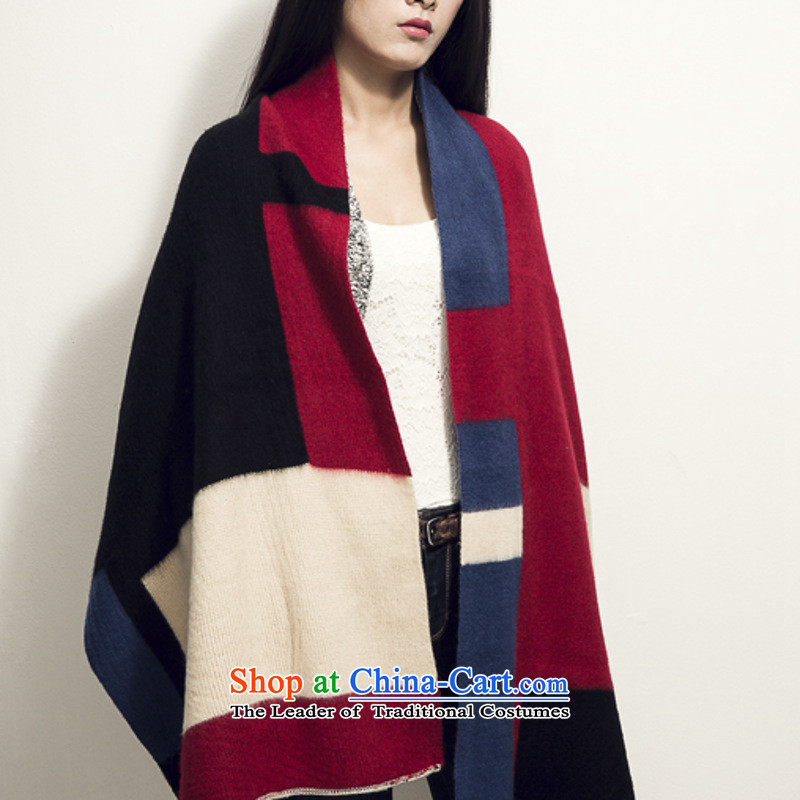 Weikafu autumn and winter new Korean fashion color plane geometry knitting long warm scarf female shawl scarves with Vicki 01, two English thoroughbred card stock (WEIKAFU) , , , shopping on the Internet