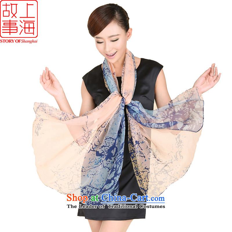 Shanghai Story silk scarf Ms. widen warm winter long shawl158032 Fatal LovePowder Blue