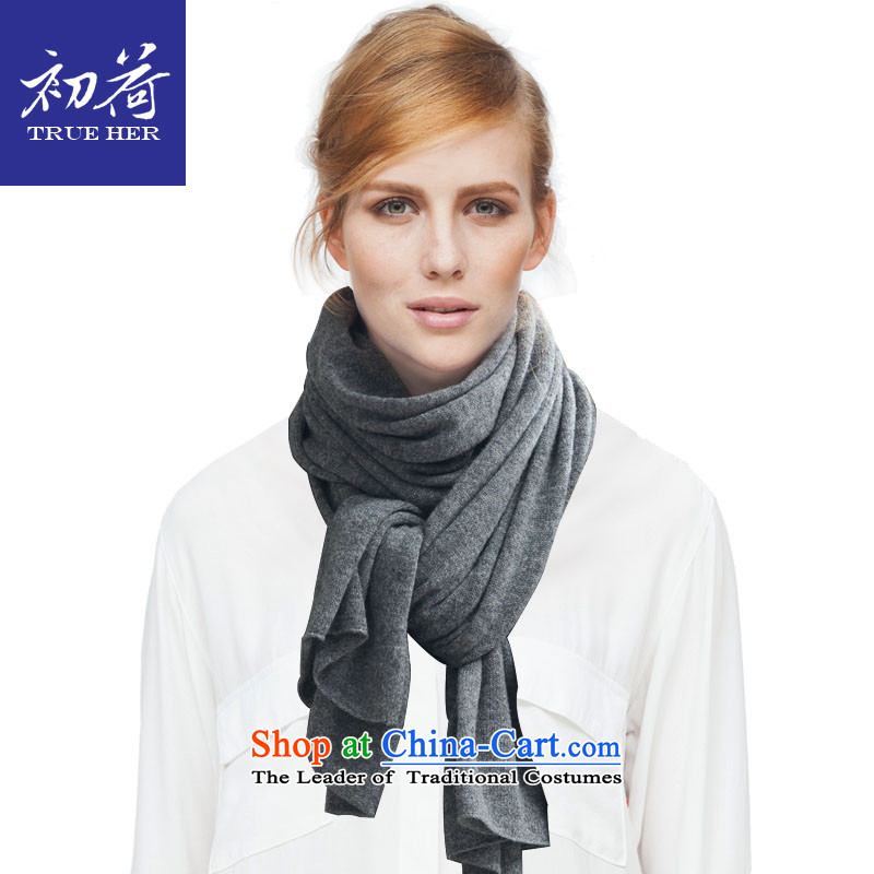 I should be grateful if you would have the beginning of the autumn and winter Ms. wooler scarf pure colors with Europe and the prevalence of two shawls women knitted gray thick warm transfer a girlfriend gift Gray