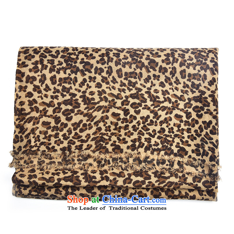 The wool Aguirre AJIDOU scarf long version won warm leopard scarf of autumn and winter women cape a dual-use clothing accessories leopard