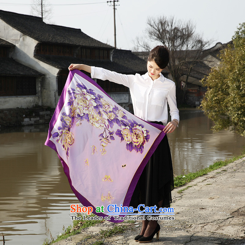 Pillow water people herbs extract silk scarves scarf female long Hangzhou masks in the spring and autumn sun shawl two use Hsia purple yuhuan fuser