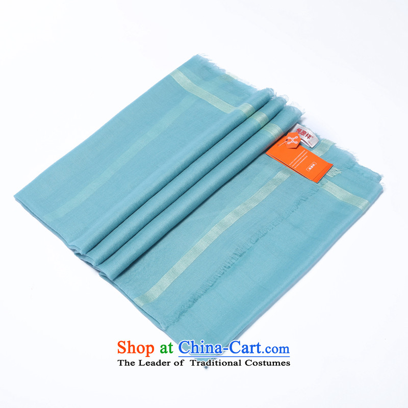 Hengyuan Cheung cashmere plus silk edge pixel color gift scarves long Ms. Mint Green