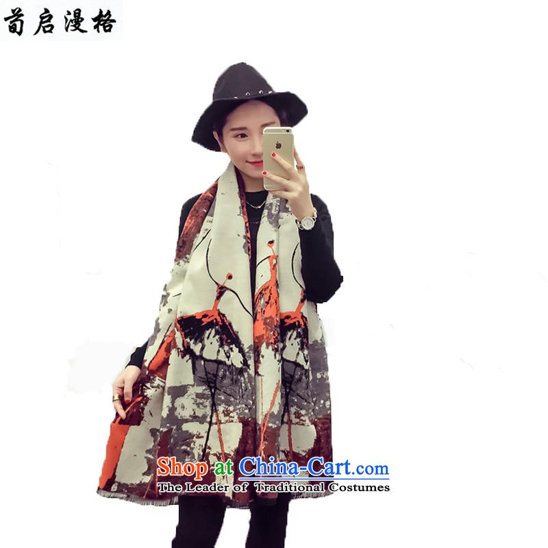 Sun Kai Man, autumn and winter new western temperament cashmere duplex wild fancy scarf XCD703 orange