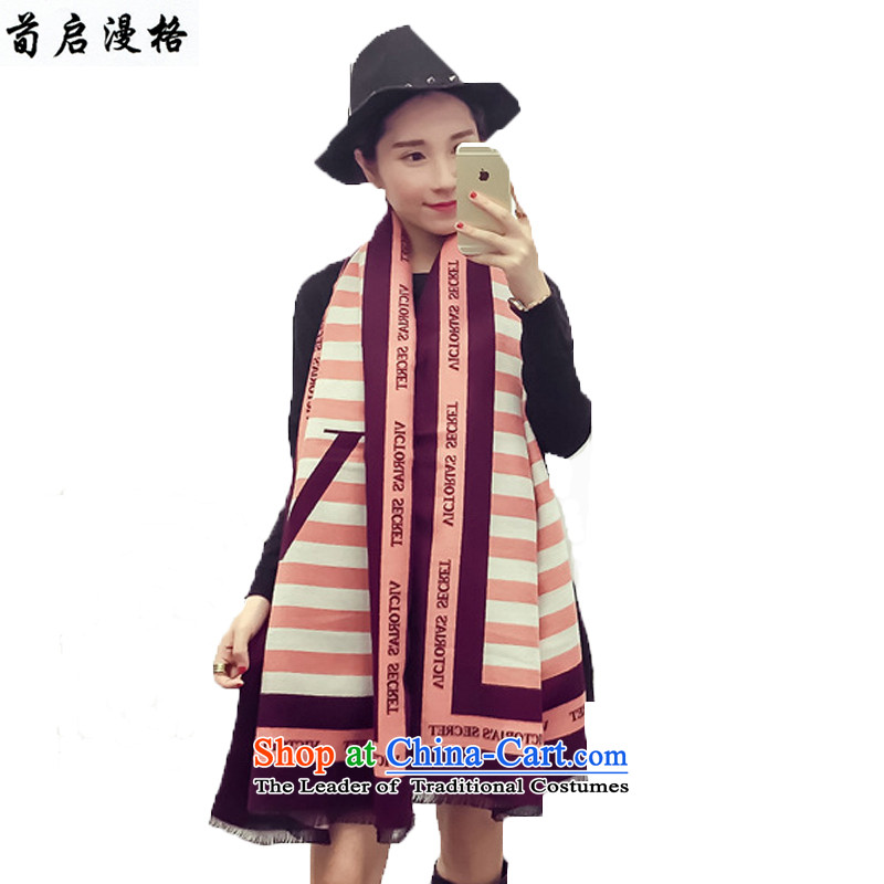 Sun Kai Man, autumn and winter new western wild reversible pashmina shawl XCD704 letters map color