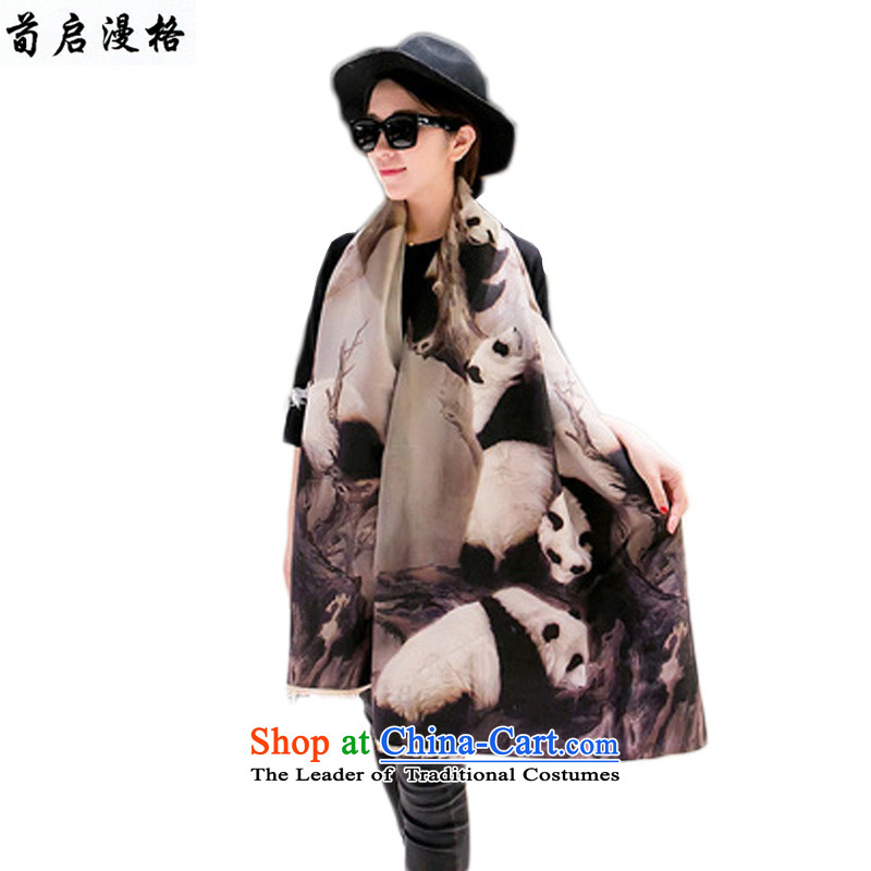 Sun Kai Man, autumn and winter new digital printing double-sided copying lovely Giant Pandas pashmina shawl XCD707 large map color