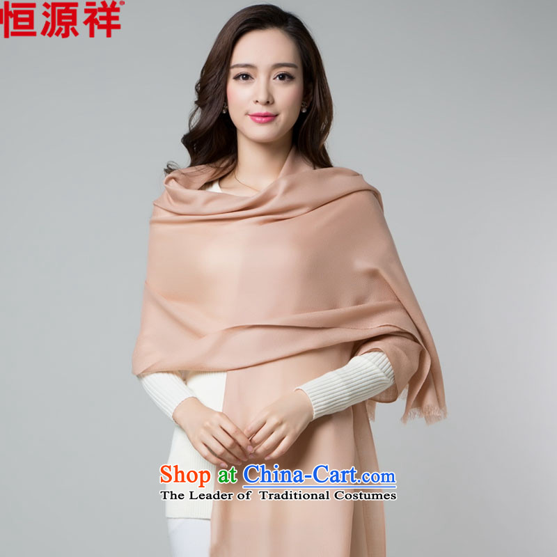 Hang Cheung Korean source, wool scarf of autumn and winter female solid color thick oversized long air-conditioned room light curry two shawls