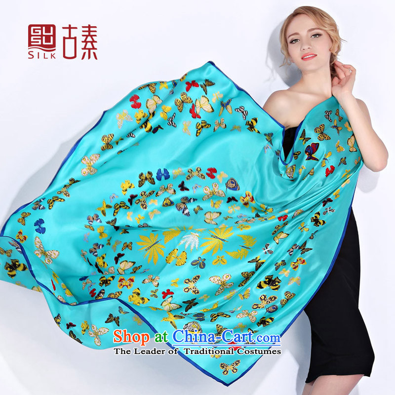Mrs so upscale Suzhou Silk Heavyweight 100 female sauna silk scarves workshops silk scarf gift-classy autumn and winter scarf woolen shawl a dual-use The Butterfly Dance Dance fans of butterfly