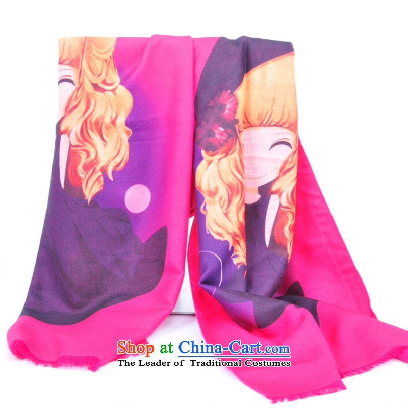 The 2015 New lovely dolls shawl scarf emulation cashmere Barbie dolls whiz of red