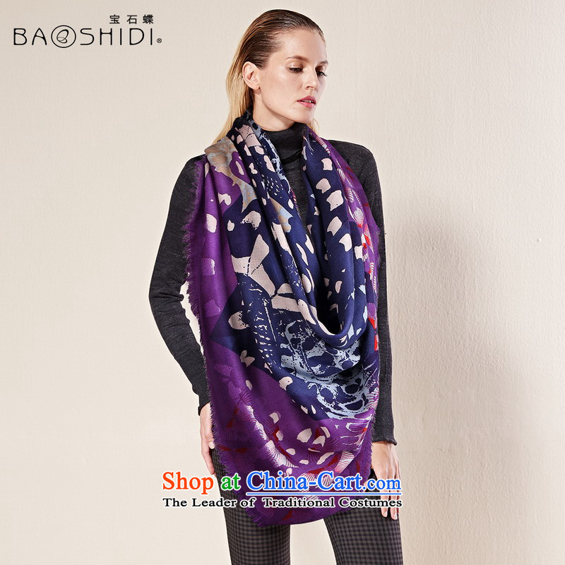Gems butterfly upscale Pure Wool scarf female autumn and winter, warm large size wool Fancy Scarf of dual-use and classy towels_butterfly wings Dance聽No. 1 Color light