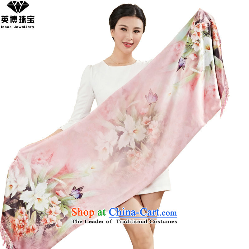 The British side with brushed warm autumn and winter long-haired girl scarves silk scarf autumn and winter shawl handkerchief shawl wild Korean masks in a sunscreen J