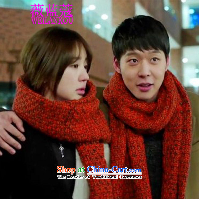 Ms Audrey EU blue Coe new Korean 2015 female couple_ Thick Long scarf think you favor with scarves, Red