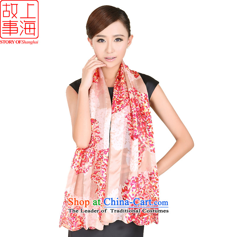 Shanghai Story stylish satin long sunscreen silk scarf beach towel encryption Women Korean style content flowing herbs extract 158063 and color of the scarf