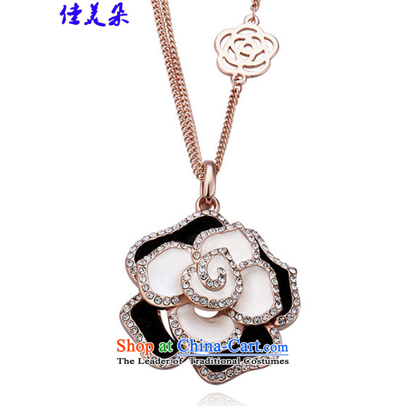 Jia Mei flower聽 length of chain necklace 2015 sweater female Korean stylish rose gold jewelry KM015 Figure Color Code
